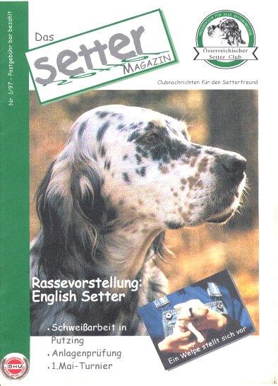 Die erste Ausgabe mit Rasseportrait des English Setters - Heftdownload 4 MB