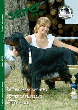 Titelbild: Master of Setter Day-Kärnten 2007 und Int. Derby Cup-Sieger 2007 Crazy Blue designed by Wolf mit Liesa Spreitzer